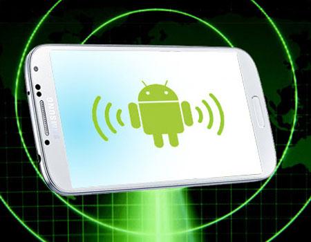 Imagen de un teléfono con logotipo de Android en su ineterior