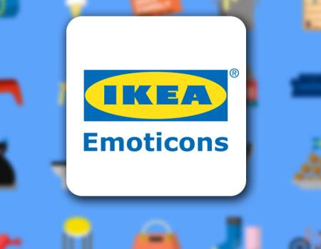 Icono de IKEA Emoticons con fondo de muestra