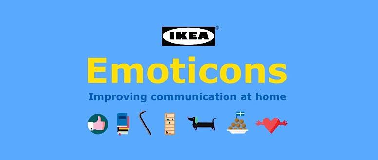 Imagen con alguna de las opciones de IKEA Emoticons