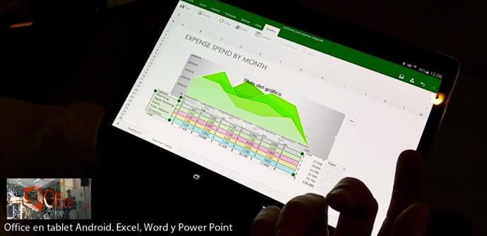 Uso de Office para Android versión Premium en un tablet