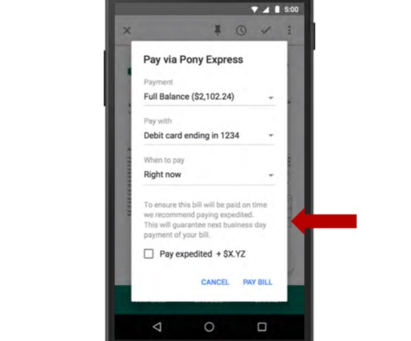 Configuración de pago con Google Pony Express