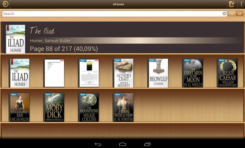Ebook Reader aplicación Android