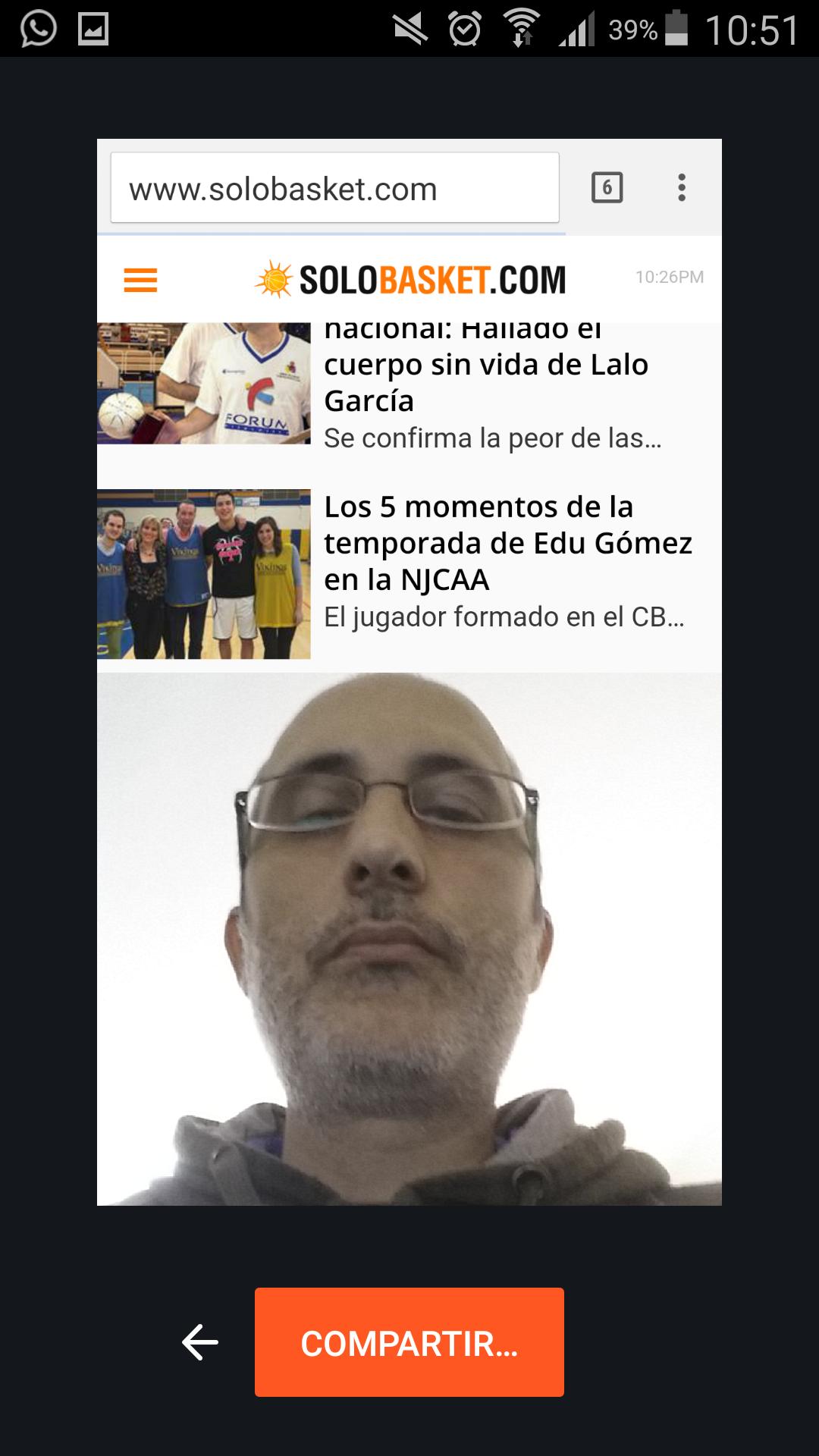 Foto para Compartir una reacción en Chrome para Android