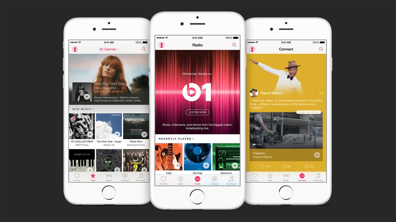 Interfaz de Apple Music