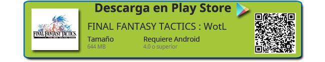 Descarga del jeugo Final Fantasy Tactics The War of the Lions
