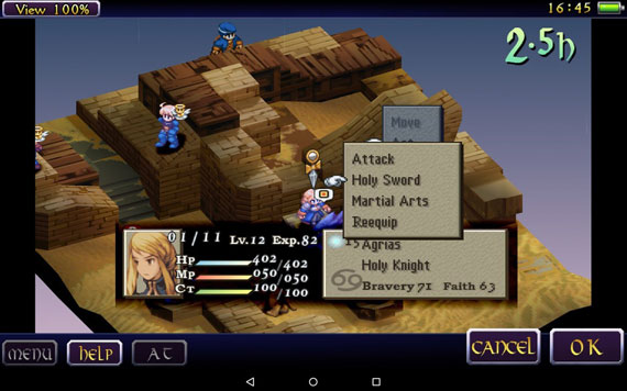 Juego Android Final Fantasy Tactics The War of the Lions