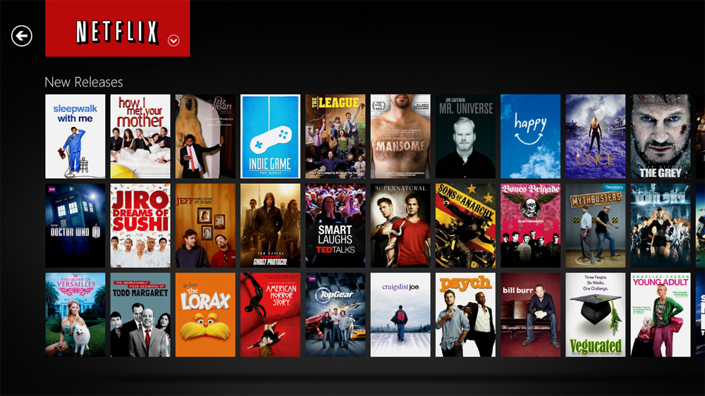 Interfaz de Netflix