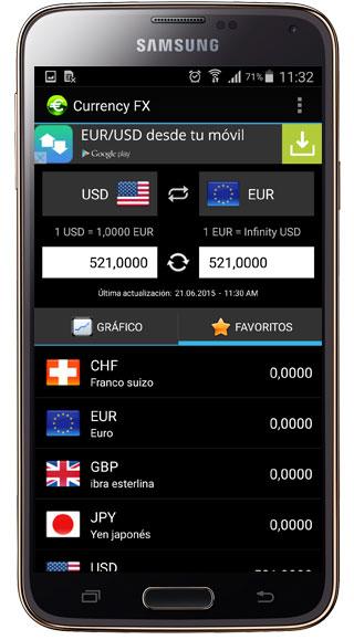 Uso de Currency FX