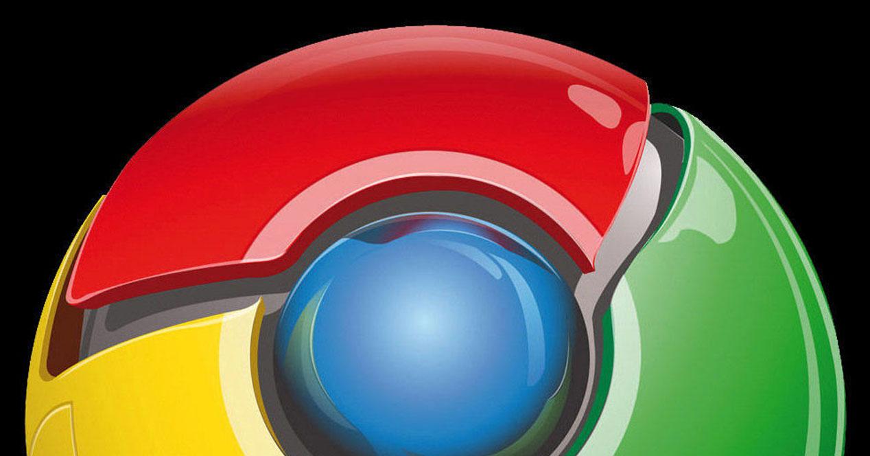Logotipo de navegador Chrome con fondo negro