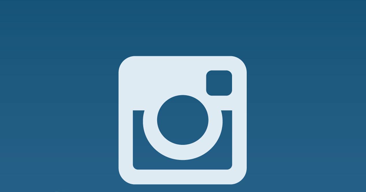 Logotipo de la aplicación Instagram con fondo azul