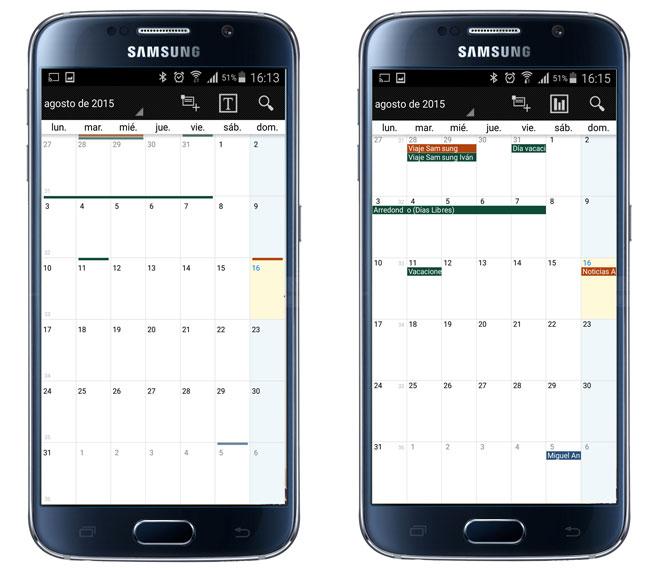 Vistas de los calendarios en Business Calendar Pro