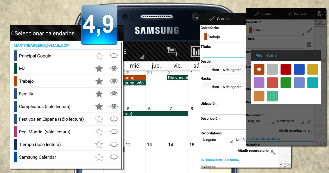 Aplicación Android Business Calendar Pro