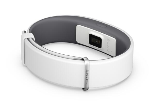 Sensor de ritmo cardiaco integrado en la pulsera Sony SmartBand 2