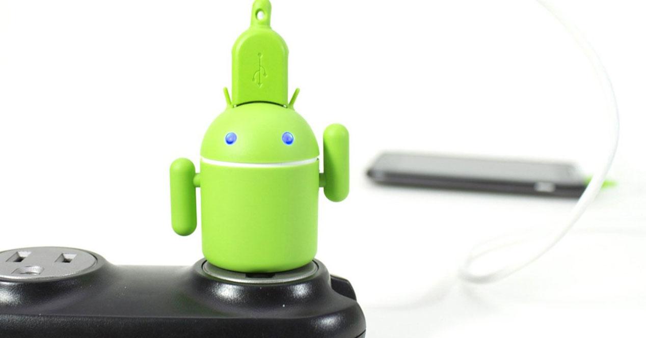 USB con logotipo de Android