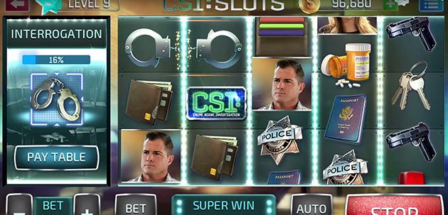 Juego CSI: Slots de Gameloft