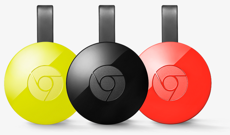 Colroes del reproductor Chromecast 2015