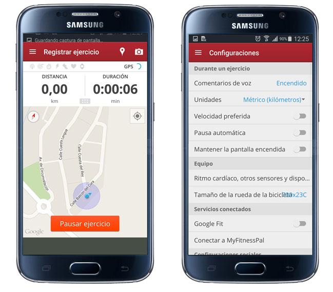 Inforamción de una ruta en MapMyRide GPS Cycling Riding