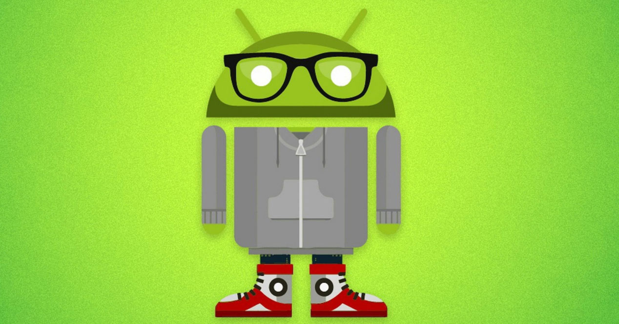 Logotipo Android con gafas