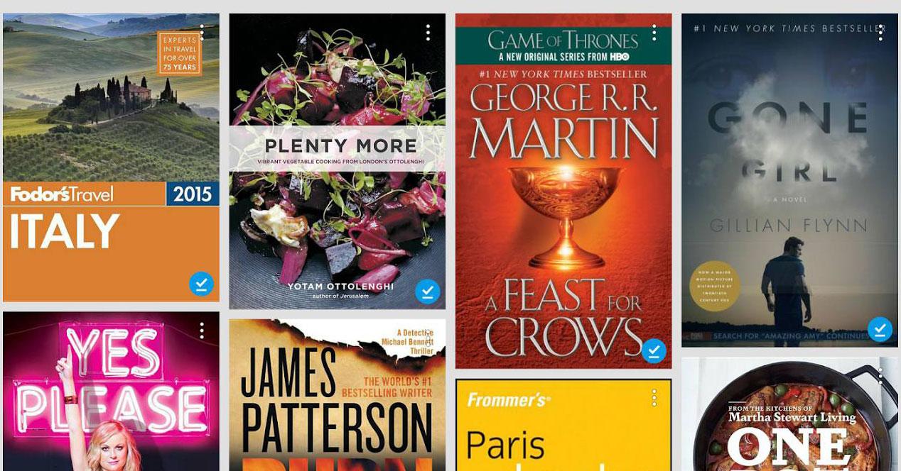 Interfaz de Google Play Libros