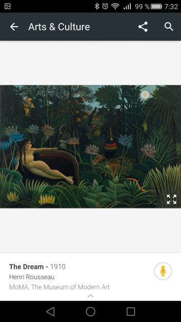 Cuadro en la aplicación Google Arts & Culture