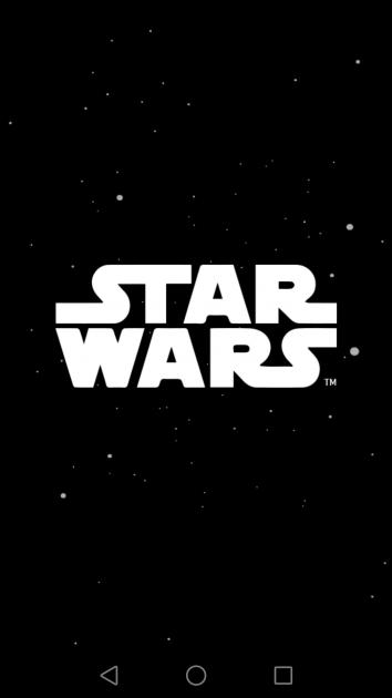 Inicio aplicación Star Wrs Android