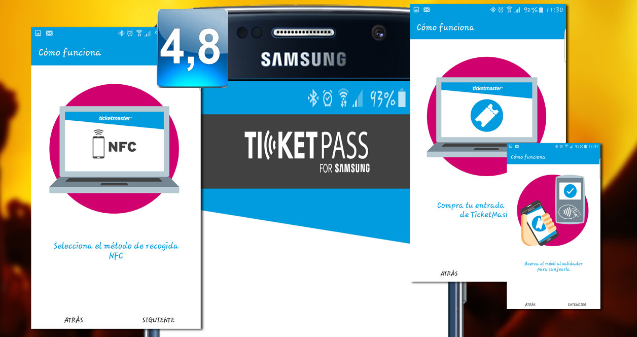 Aplicación TicketPass for Samsung