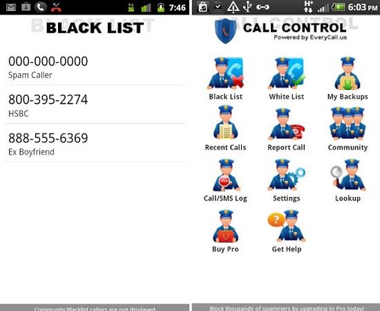 Aplicación Call Control para Android
