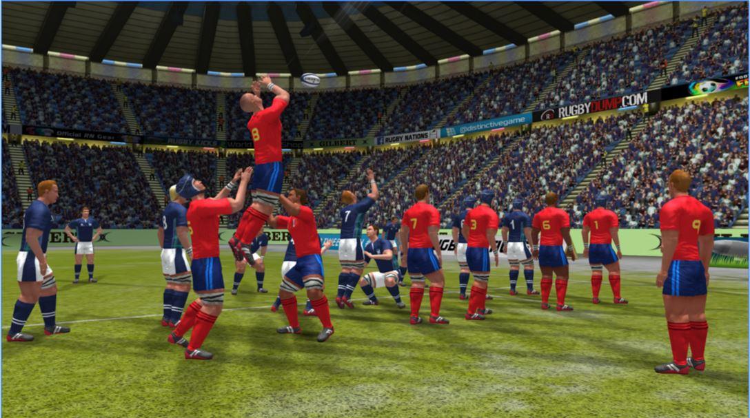 JUgando a Rugby Nations 16 para ANdroid