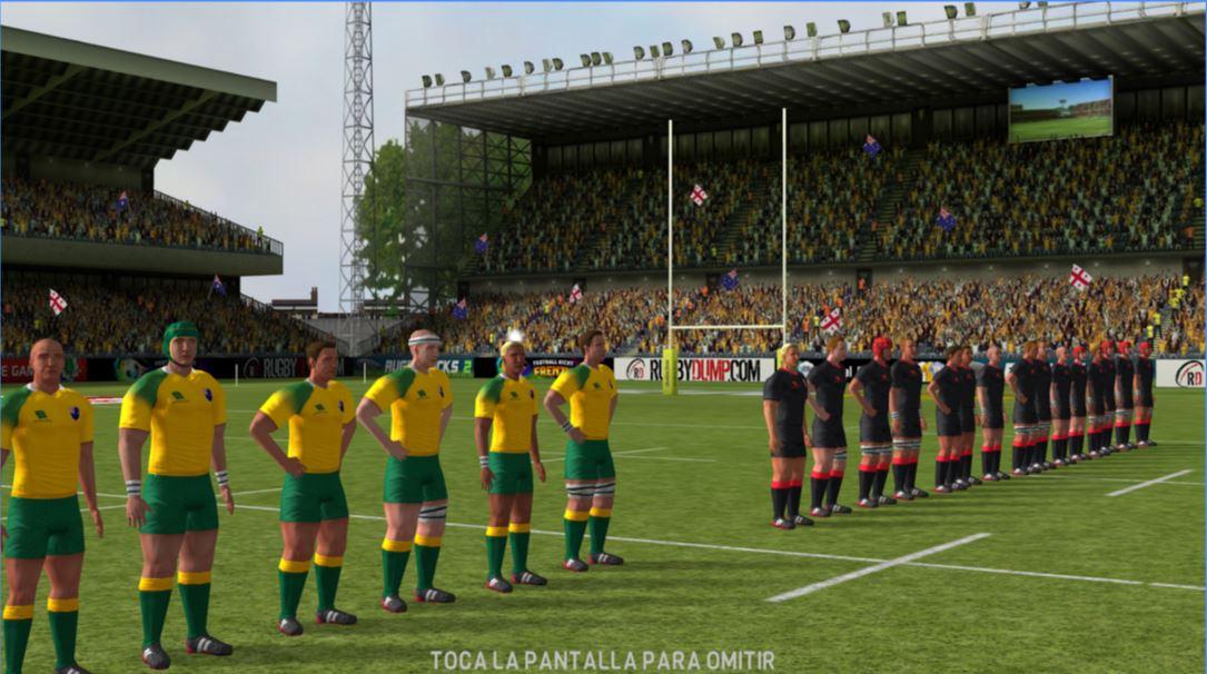 Graficos del juego Rugby Nations 16