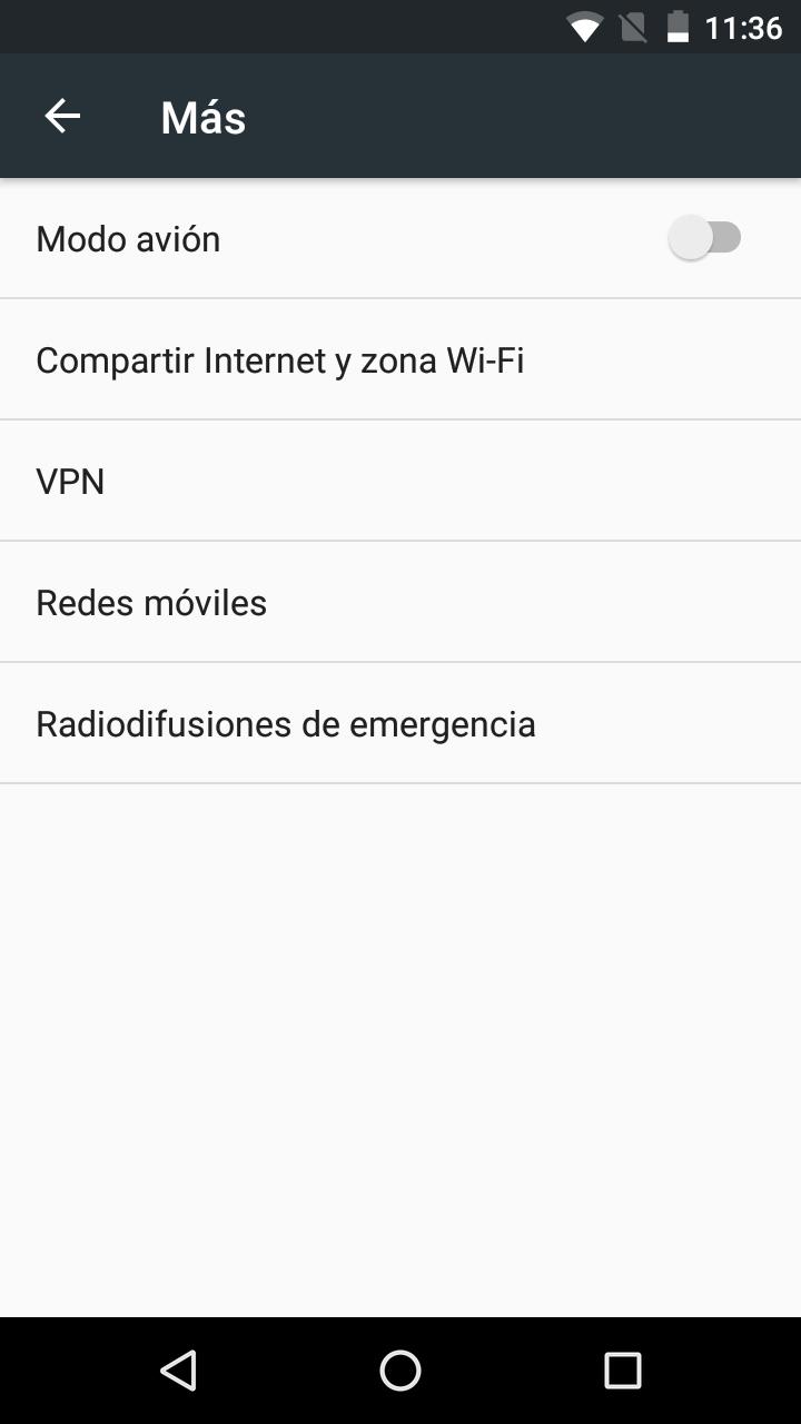 Compartir Wifi en los Ajustes de Android Marshmallow