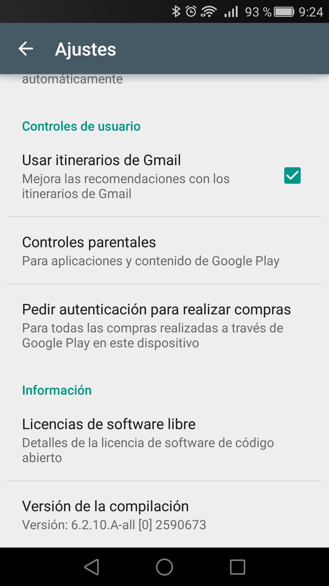 Nueva integración de Gmail en Play Store