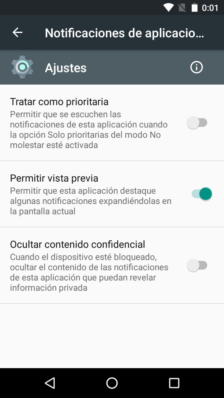 Gestión de notificaciones en Android Marshmallow