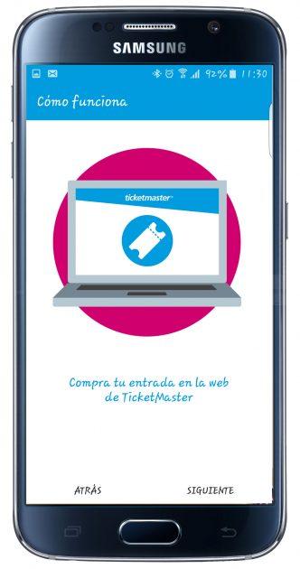 Uso de TicketPass for Samsung