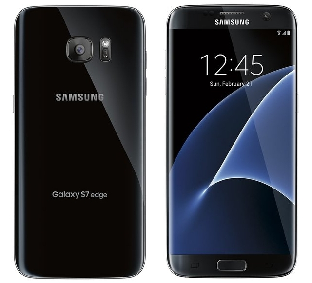 Samsung Galaxy S7 edge de color negro