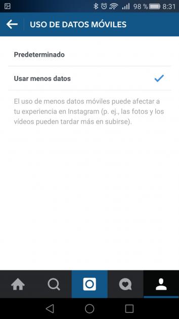 Desactivar reproducción en Instagram para Android