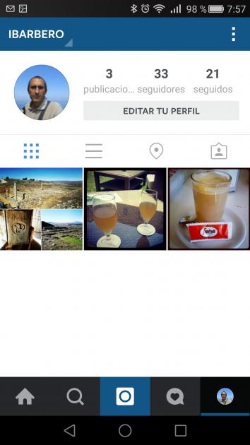 Detalles cuenta en Instagram para Android