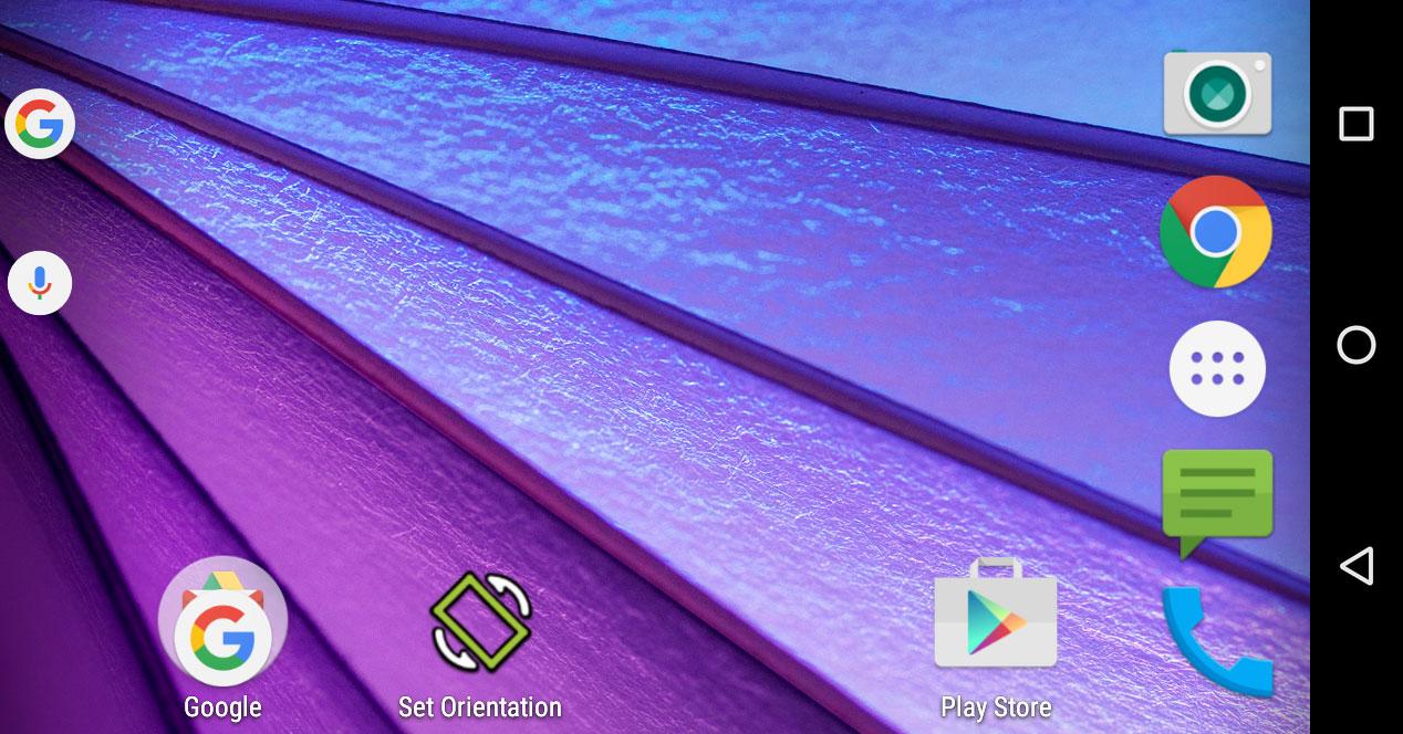 Set Orientatión para Android