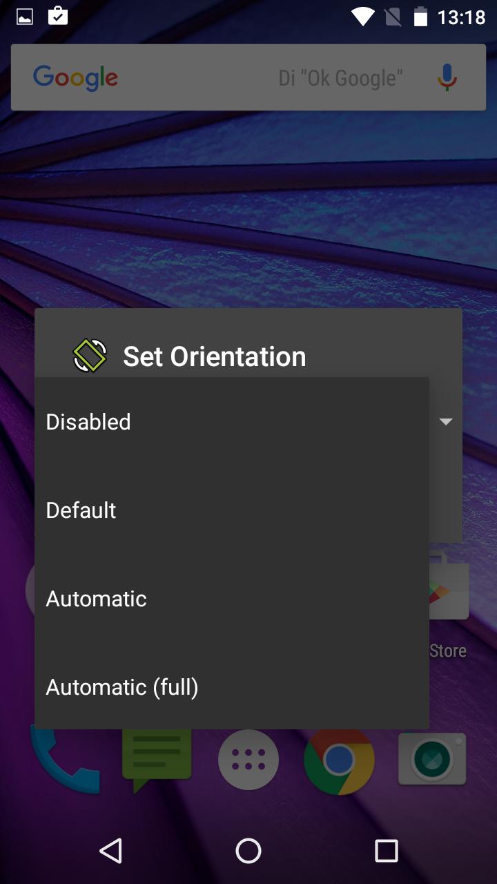 Aplicación Set Orientatión par Android