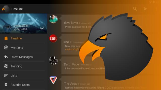 Aplicación Talon for Twitter