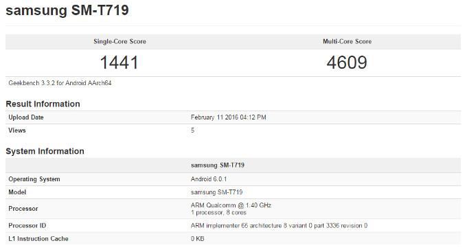 Samsung Galaxy Tab 3 en GeekBench