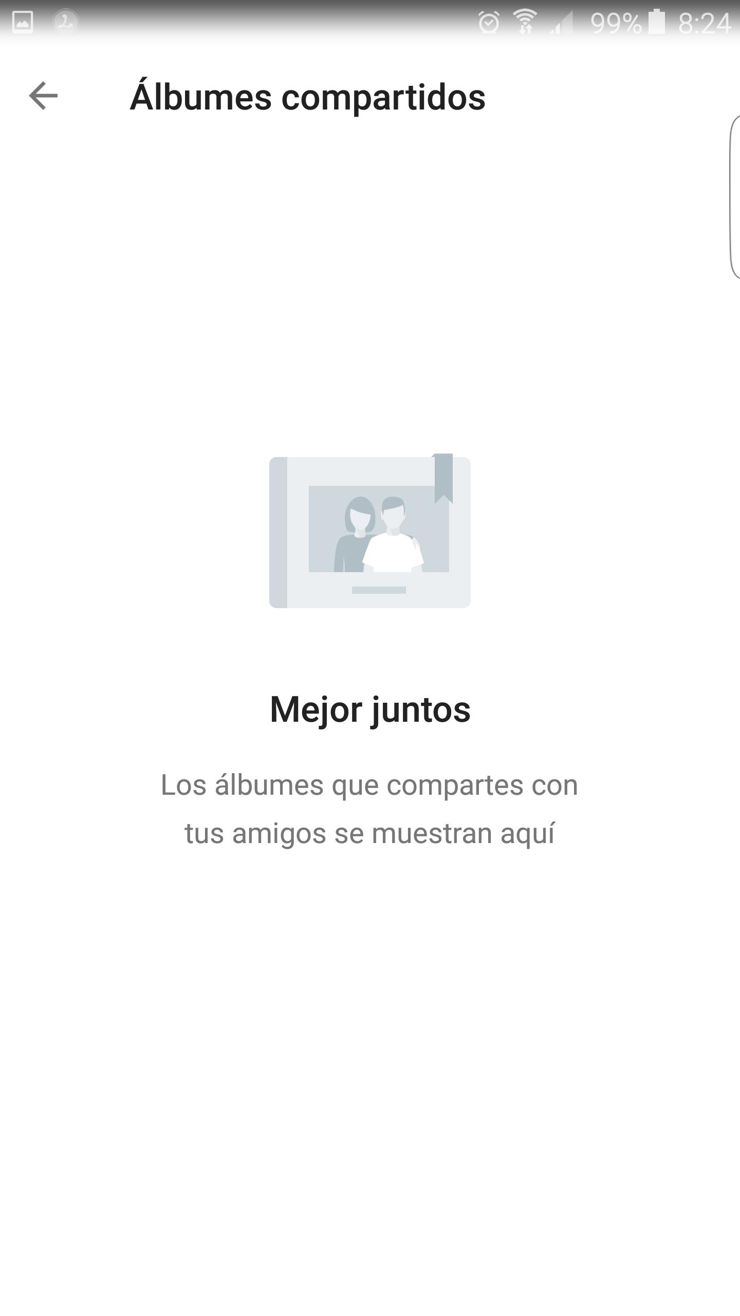 Álbum compartido en Google Fotos