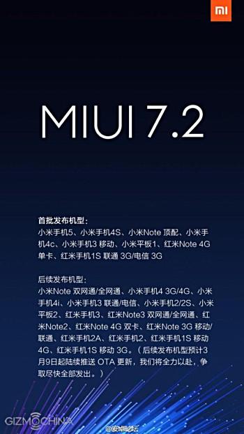 Actualización MIUI 7.2 vía OTA