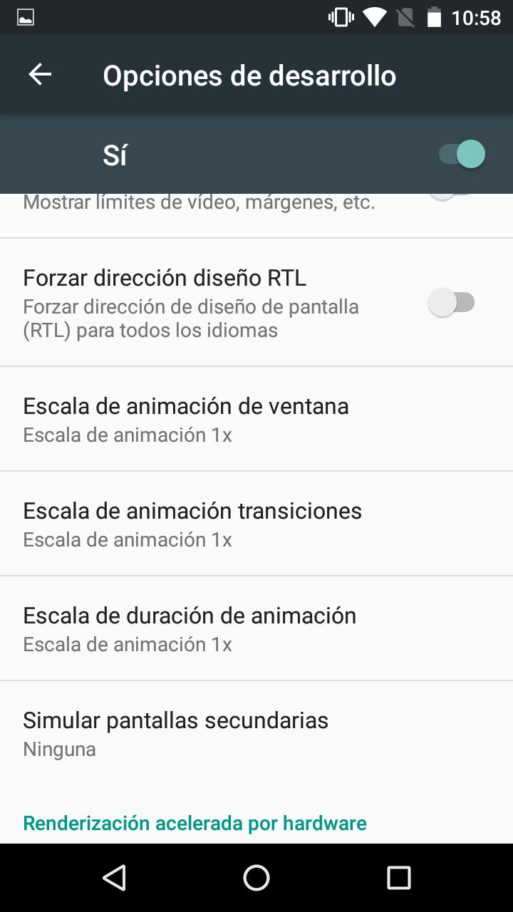 Animaciones en el Nexus 5X