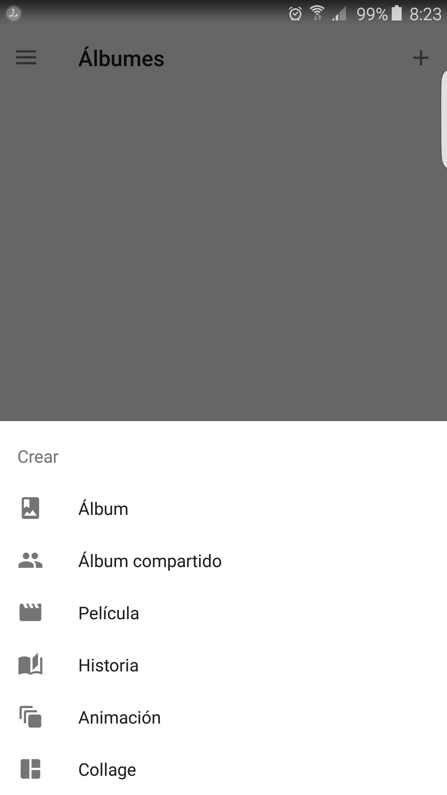 Crear álbum para compartir en Google Fotos