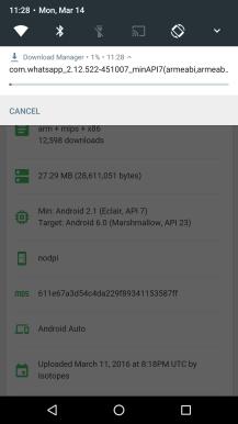 Descarga en versión de prueba en Android N
