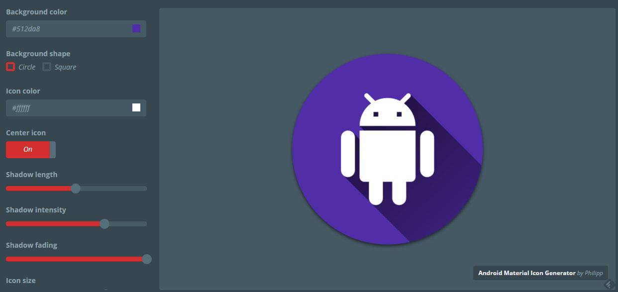 Edición para crear iconos Android