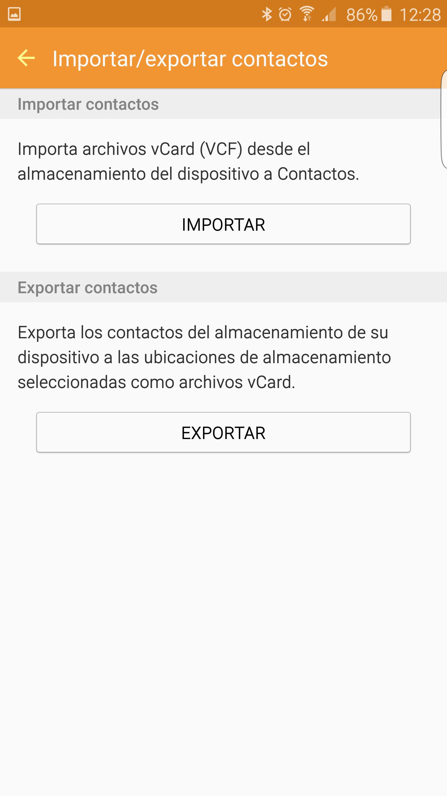 Exportar e importar contactos en Google