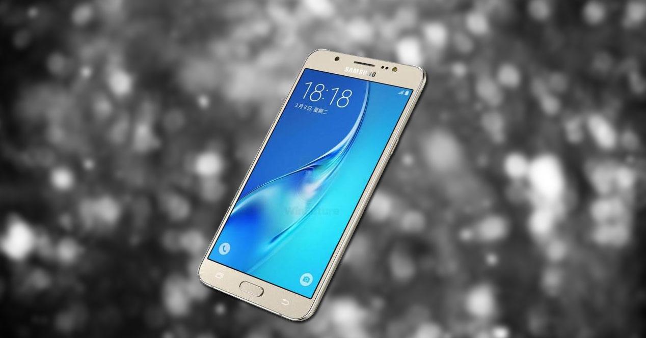 Samsung Galaxy J7 2016 con fondeo blanco y negro