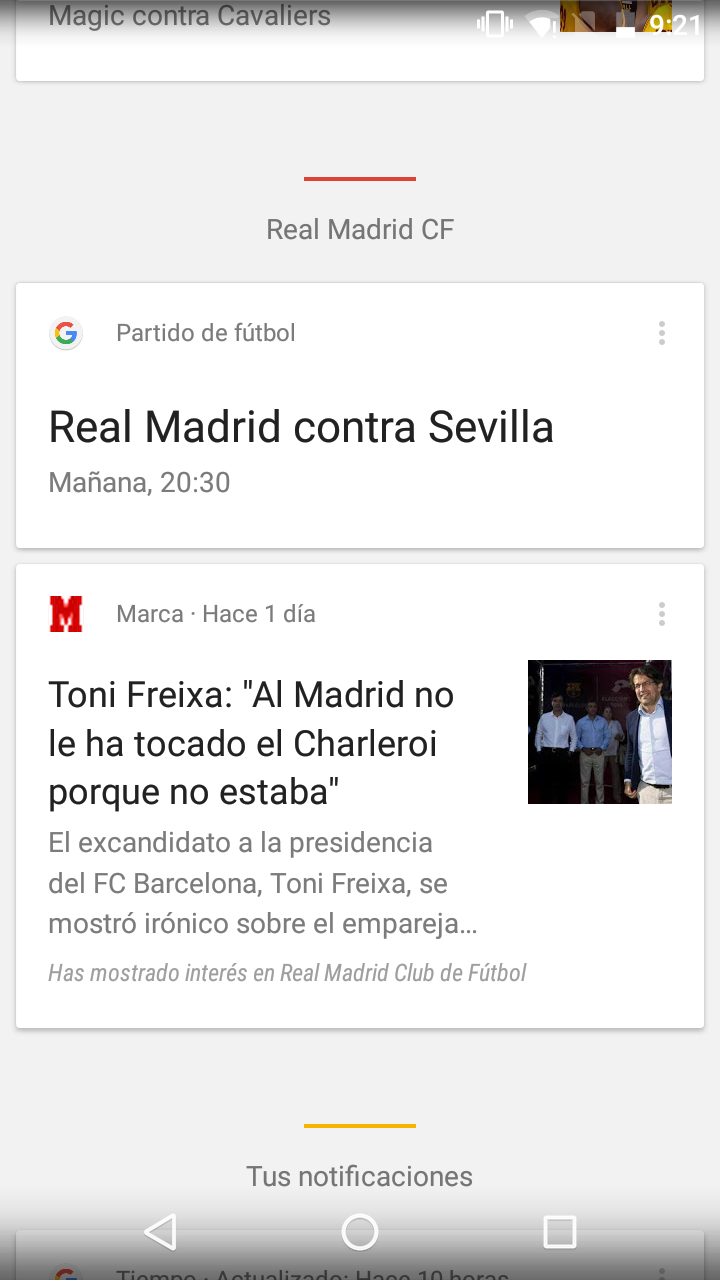 Asistente Google Now para Android