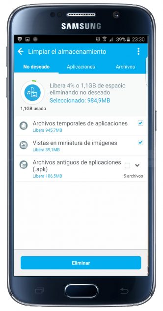 Información en la aplicaicón Battery Optimizer